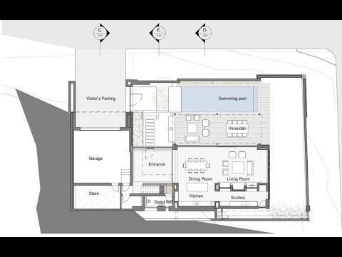 Planos de casa de dos pisos fachada y dise o interior - Diseno interior de casas ...