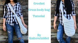 How to crochet cross body bag