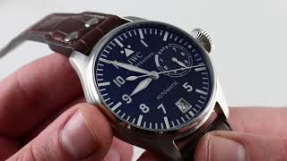 Pre-owned Iwc Big Pilot Iw5002-01 Luxury Watch Review