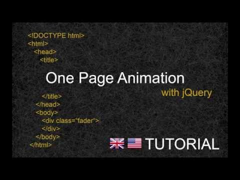 One Page Animation with jQuery - Tutorial [ENG]