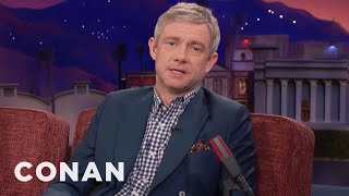 Martin Freeman On The Difference Between British & American Actors  - CONAN on TBS