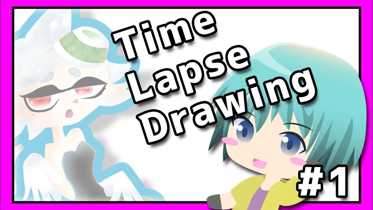 """【タイムラプス#1】 """"Drawing!"""" #AECRNIA Vtuber"""