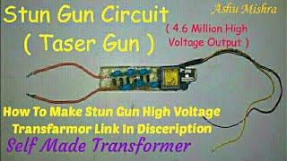 Capacitor taser gun