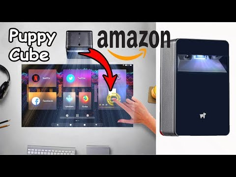 Puppy Cube turns any surface into a 23 INCH TOUCH SCREEN