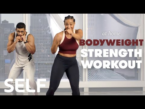 30-Minute Strength & Conditioning Workout with Warm Up & Cool Down No Equipment at Home | SELF