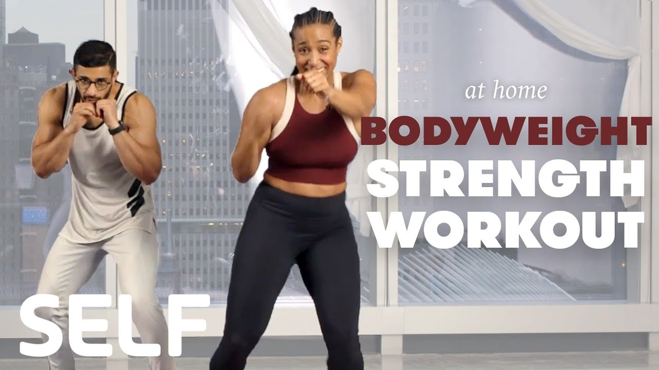 30-Minute Strength & Conditioning Workout with Warm Up & Cool Down - No  Equipment at Home | SELF