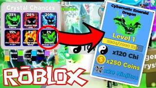 *CYBERNET EMERALD DRAGON* RAREST PET IN ROBLOX NINJA LEGENDS (New Update)