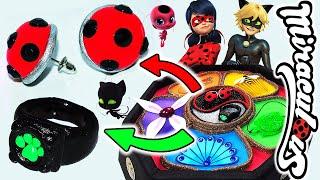 DIY Miraculous Ladybug Earrings and how to make Cat noir ring | Chat noir and Ladybug Miraculous