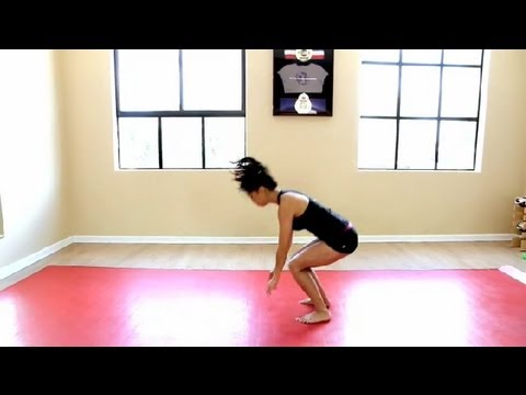 Techniques on How to Do a Backflip : LIVESTRONG - Fitness with Amber Nimedez