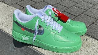 """Custom Off-White Nike Air Force 1 """"Mint"""""""