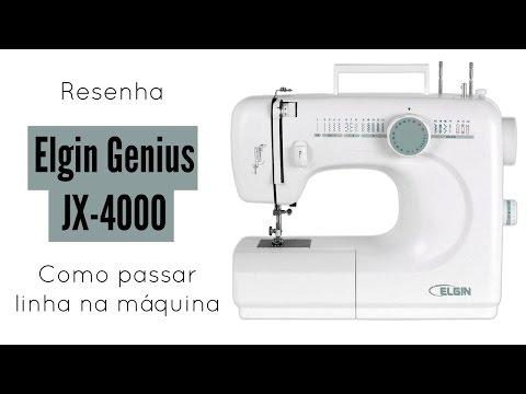 Maquina Elgin Genius JX-4000 | Resenha e como passar a linha na máquina