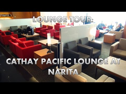Check out the Cathay Pacific airport lounge at Narita