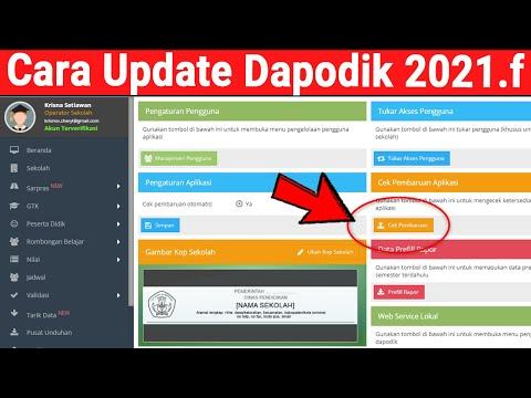 Cara Update atau Pembaruan Aplikasi Dapodik 2021.F Khsus bagi PKBM atau SKB