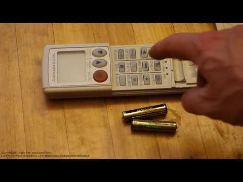 How to replace battery Mitsubishi remote control air conditioner