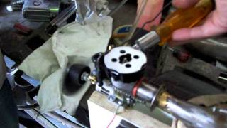 motor de auto en avion radio control pro...