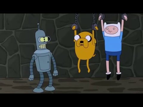 Futurama and Adventure Time crossover:  Bender Meets Jake and Finn!