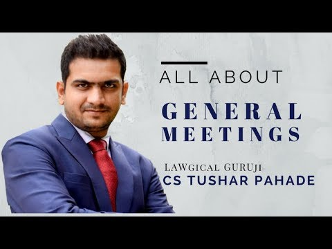 All About GENERAL MEETING || CA IPCC & CS EXECUTIVE