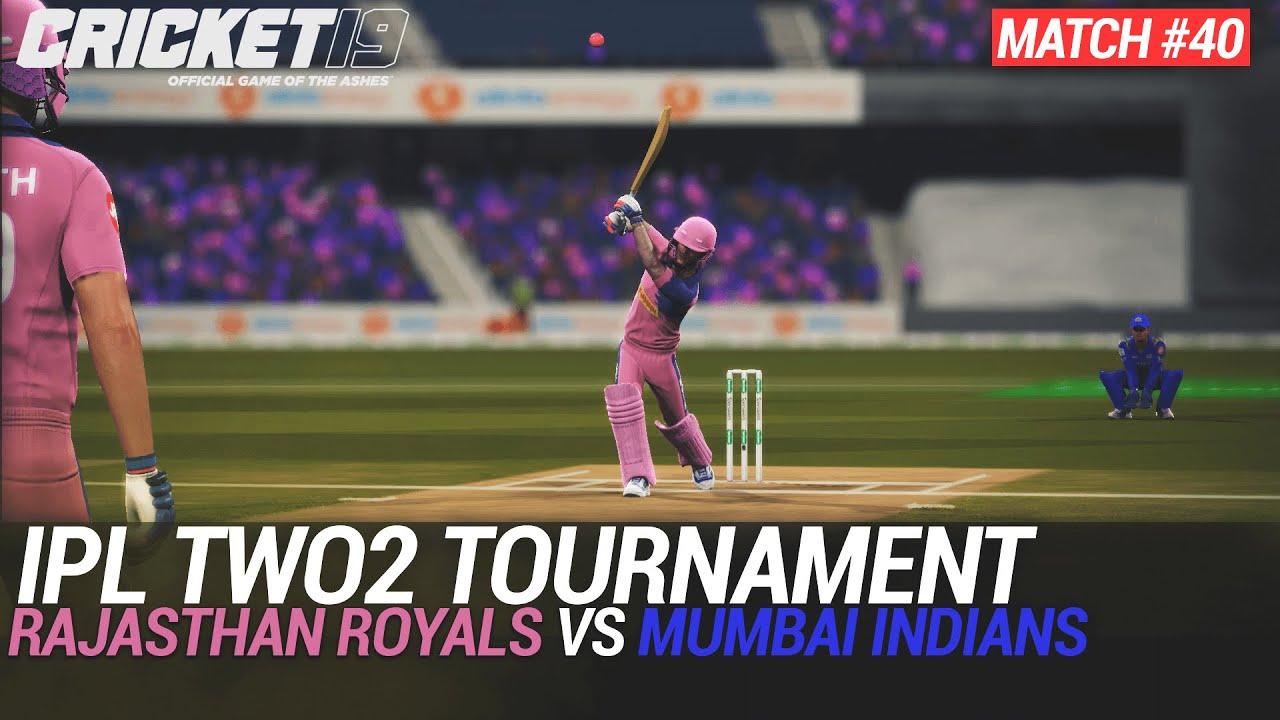 CRICKET 19 - IPL2020 TWO2 - MATCH #40 - RAJASTHAN ROYALS vs MUMBAI INDIANS