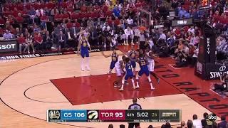 Last 5 mins of 2019 NBA Finals Game 2 Golden State Warriors vs Toronto Raptors