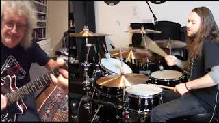 HAMMER TO FALL DRUM JAM w/BRIAN MAY | CHRIS ALLAN DRUMS