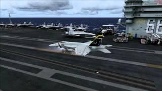 FSX - F-18 Super Hornet Carrier Operations