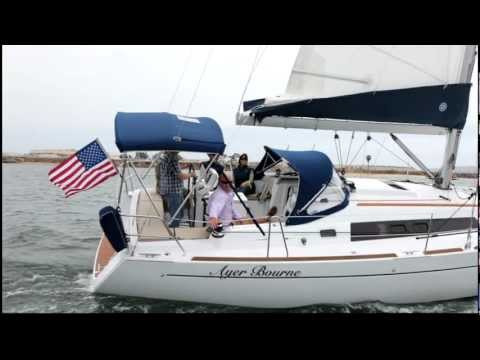 """Beneteau Oceanis 37 """"Ayer Bourne"""" delivery day sailing.MOV"""
