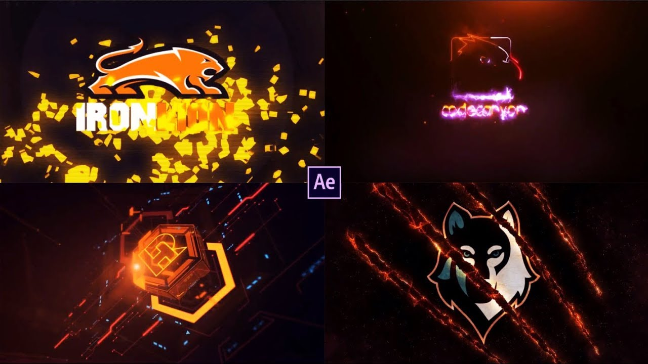 Top 10 LOGO Template After Effects very strong ????