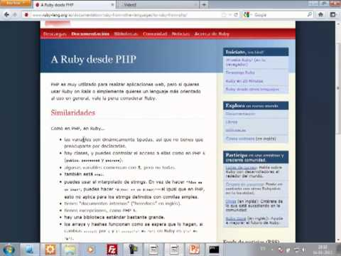 VideoTutorial 3 del Curso de Ruby on Rails