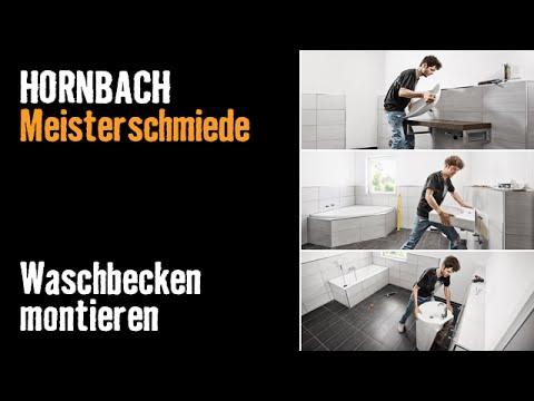 projektintro waschbecken montieren hornbach meisterschmiede youtube. Black Bedroom Furniture Sets. Home Design Ideas