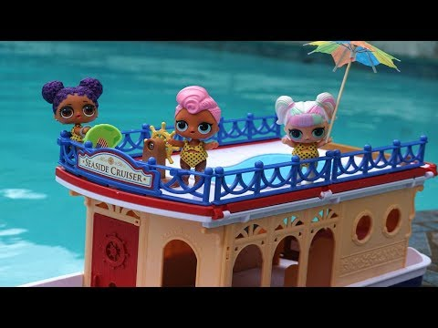 LOL SURPRISE DOLLS Go On A Cruise In The Ocean!