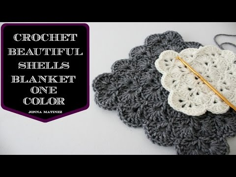 How To Crochet A Beautiful Shells Blanket In One Color