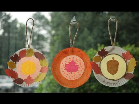 Paper Plate Fall Suncatchers Youtube