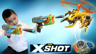 X-shot Flying Bug Attack Kids Fun Blaster Battle With Ckn Toys