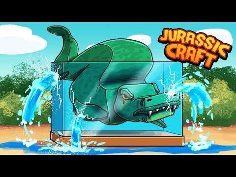 Minecraft Jurassic Craft - BUILDING A DINOSAUR AQUARIUM!