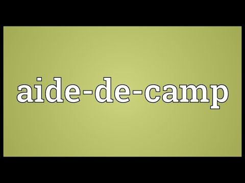 Aide-de-camp Meaning