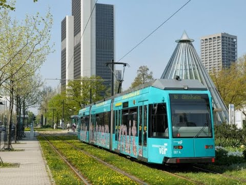 Trams/Strassenbahn in Frankfurt, Germany