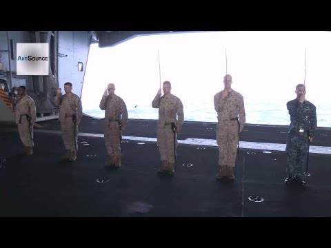 Marines and Sailors Sword Manual Training