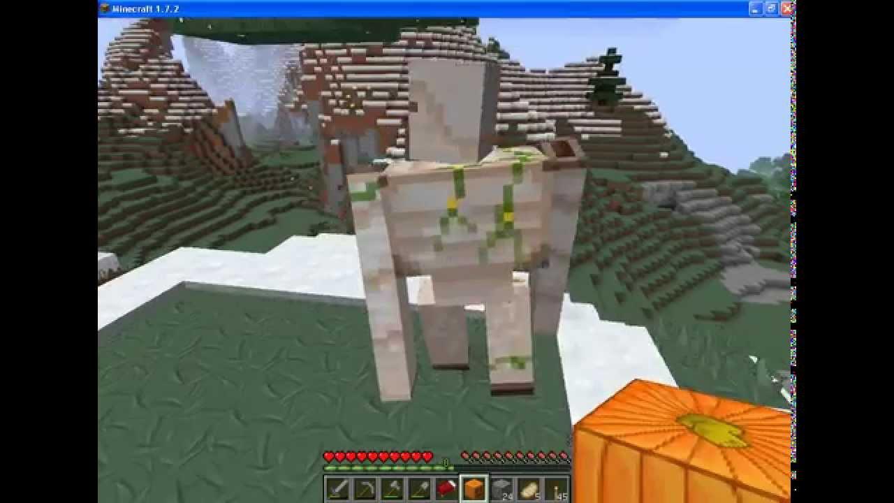 Minecraft как сделать каменного голема фото 534