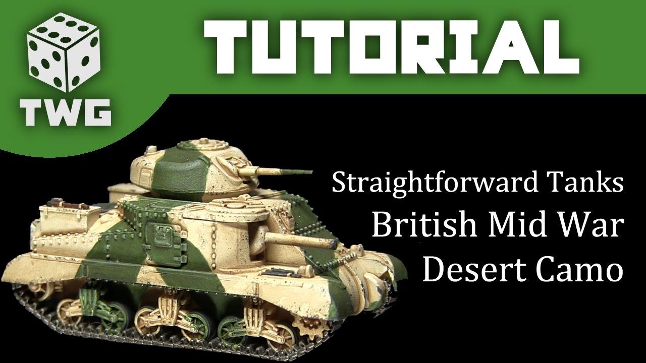 Flames of War Tutorial: How To Paint WW2 British Desert Camo