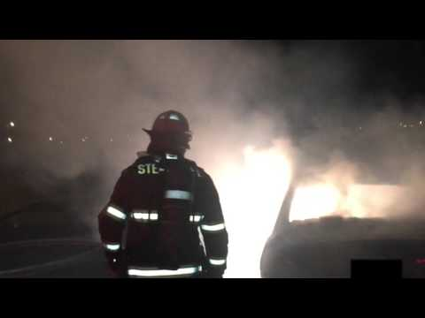 Car Fire With Magnesium