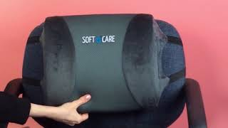 Get Better Posture: Soft & Care Seat Cushion and Lumbar Support Pillow