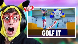 **GOLF IT** en FORTNITE!! (NEW MINI GOLF Game in Fortnite Battle Royale - código mapa minigolf)