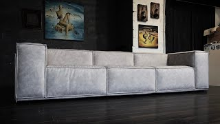 How to make a sofa. Современный диван своими руками. Time lapse