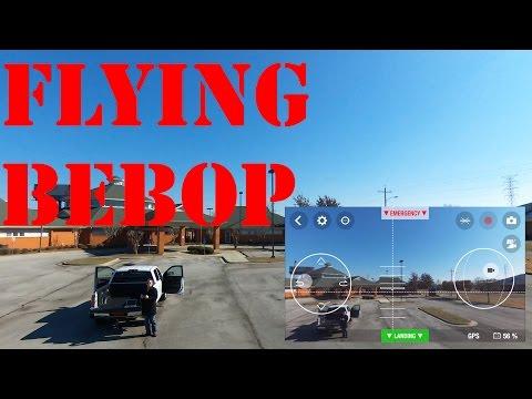 Parrot Bebop Drone Flight Demonstration / FreeFlight 3 App Demo