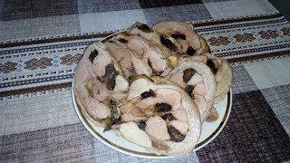 Вкусное Очень Сочное и Нежное Бедро Индейки с Сыром и Черносливом !