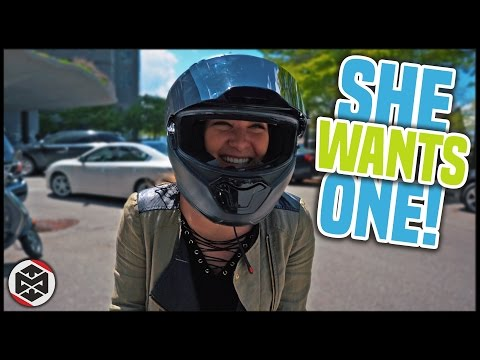 She wants a motorcycle! | First Ride on a Ducati Monster