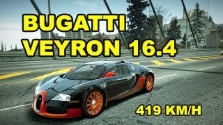 Repeat youtube video NFS World Bugatti Veyron 16.4  Full Ultra / 419 KM/H  /without hack / sin hack