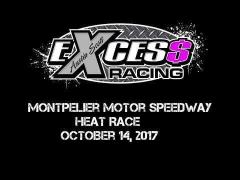 Montpelier Motor Speedway - Heat Race - October 14, 2017