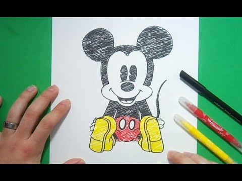 Como Dibujar A Mickey Mouse Paso A Paso 7 Disney How To Draw