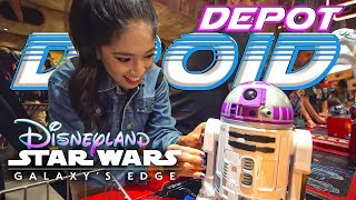 We Built an R2 Unit at the Droid Depot in Galaxy's Edge and it was Awesome! Disneyland Resort